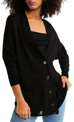 MANGO V-neck Button-Front Cardigan