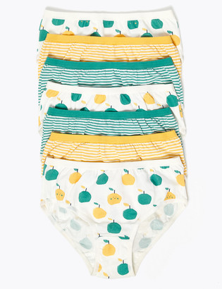 Marks and Spencer 7 Pack Cotton Apple Knickers (2-16 Yrs)