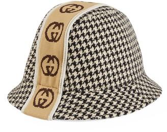Gucci Children's hat with Interlocking G stripe