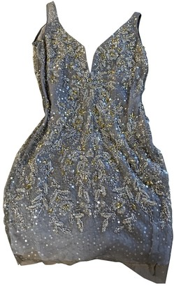 Basix II Silver Glitter Dress for Women