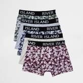 River Island Big And Tall Green Print Boxers Multipack
