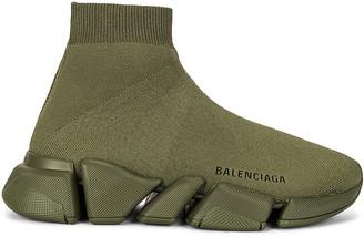 Balenciaga Speed 2 Light Sneakers in Dark Kaki | FWRD