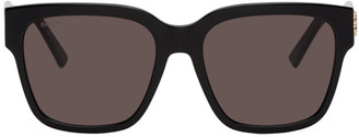 Balenciaga Black Acetate Cat-Eye Sunglasses