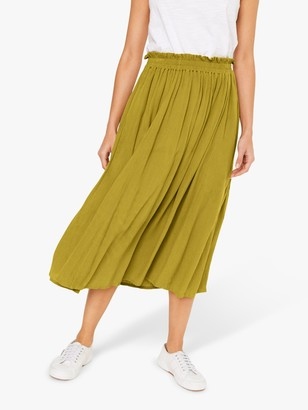 White Stuff Sorrel Crinkle Midi Skirt