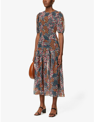 NEVER FULLY DRESSED Lucy Lucia chiffon midi dress
