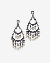 White House Black Market Faux Pearl Drop Chandelier Earrings