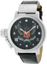 Christian Audigier Unisex ETE-104 Eternity Winged Crown Stainless Steel Watch