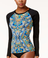 Bar III Monarchy Printed Rash Guard, Only at Macy's