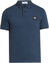 Stone Island Short-sleeved piqué polo shirt