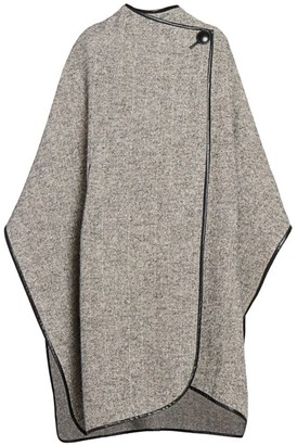 Isabel Marant Gomaha Wool Leather-Trim Cape
