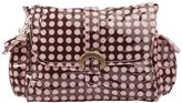 Kalencom Heavenly Dots Laminated Buckle Diaper Bag - Pink & Brown