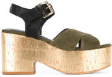 Fausto Zenga - high shine sandals - women - Leather/Suede/Viscose - 36