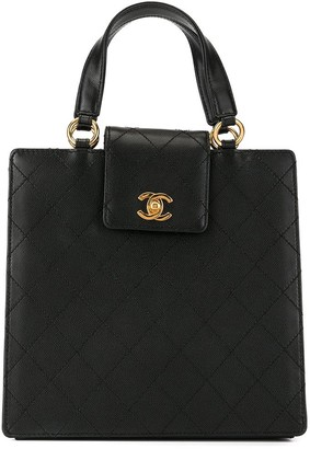 Chanel Pre Owned 1998 diamond quilted CC turn-lock tote