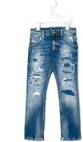 Diesel destroyed effect jeans - kids - Cotton/Spandex/Elastane - 10 yrs