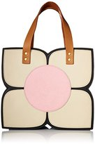 Orla Kiely Square Flower Applique Top Handle Bag