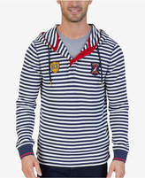 Nautica Men's Slim-Fit Striped Thermal-Knit Hoodie