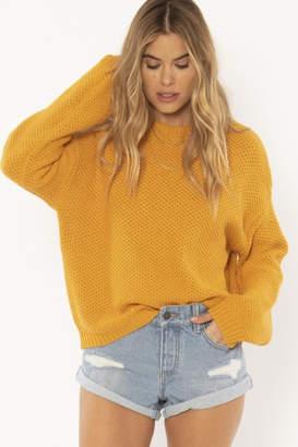 Amuse Society Mustard Knit Sweater