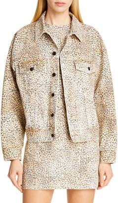 Alexander Wang Denim x Game Cheetah Print Denim Jacket