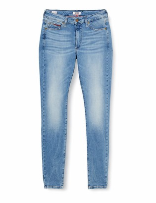 Tommy Jeans Women's Sylvia Hr Super Skinny Vctl Straight Jeans