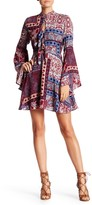 Romeo & Juliet Couture Long Sleeve Printed Dress