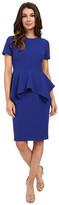 Badgley Mischka Stretch Faille Peplum Dress