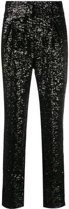 In The Mood For Love Sequin Tapered Trousers
