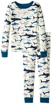 Hatley Toothy Sharks Pajama Set (Toddler/Little Kids/Big Kids)
