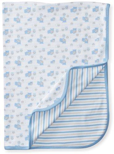 Gerber Baby-Boys Organic Reversible Knit Receiving Blanket