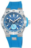 Vince Camuto Men's VC/1010LBSV The Master Multi-Function Dial Blue Silicone Strap Watch