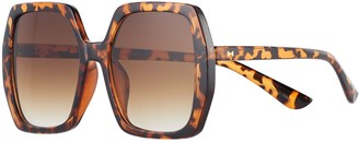 Lauren Conrad Women's Carlita Oversized Square Sunglasses