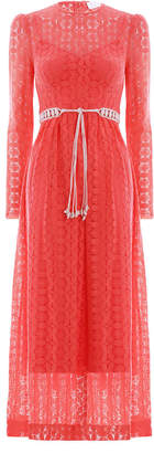 Zimmermann Allia High Neck Lace Dress
