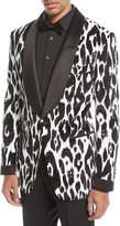 Tom Ford Ikat-Print Shawl Collar Dinner Jacket
