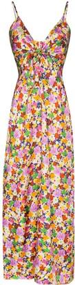 Borgo de Nor Flora floral-print silk slip dress