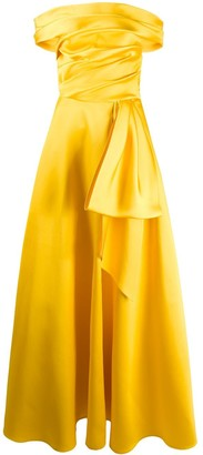 Talbot Runhof Draped Evening Dress