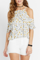 Buffalo David Bitton Flutter Floral Blouse