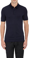 Giorgio Armani Men's Piqué Polo Shirt-NAVY