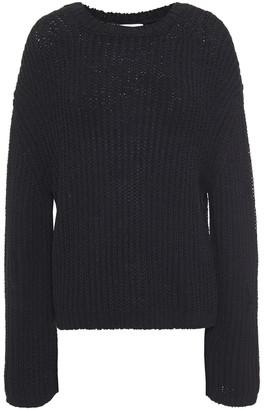 Nanushka Saio Split-back Ribbed Cotton-blend Sweater