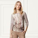 Ralph Lauren Silk-Front Cashmere Sweater