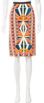 Peter Pilotto Printed Knee-Length Skirt