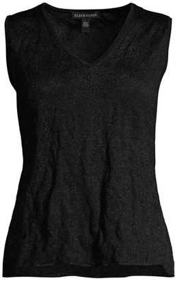 Eileen Fisher Linen V-Neck Tank