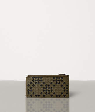 Bottega Veneta ZIP AROUND WALLET IN INTRECCIATO NAPPA