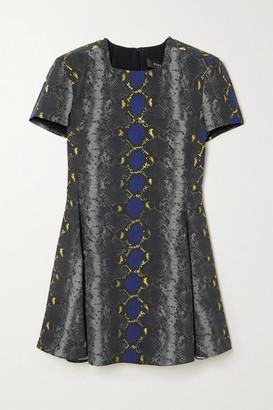 Versace Snake-print Crepe Mini Dress - Black