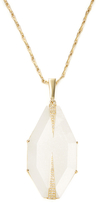 Maiyet 18K Yellow Gold, Moonstone & 0.25 Total Ct. Diamond Large Dagger Pendant Necklace