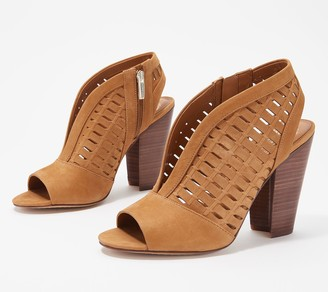 Vince Camuto Perforated Leather Heeled Sandals - Korsta