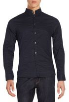 French Connection Regular-Fit Mixed Dot-Print Sportshirt