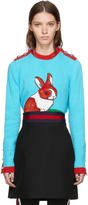 Gucci Multicolor Intarsia Rabbit Sweater