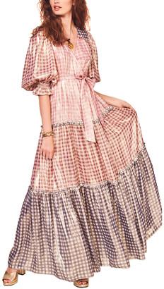 LoveShackFancy Stormi Silk-Blend Maxi Dress