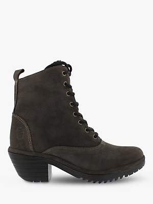 Fly London Wune077Fly Suede Lace Up Ankle Boots, Diesel