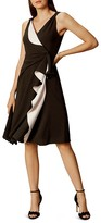 Karen Millen Ruffled Contrast-Color Dress