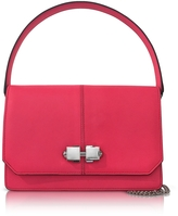 Carven Neon Pink Leather Shoulder Bag